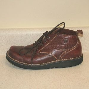 Ariat Brown Leather Lace Up Chukka Boots 8.5